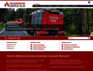feuerwehr-mariaalm.at screenshot