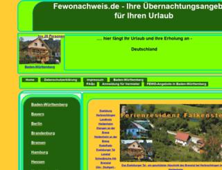 fewonachweis.de screenshot