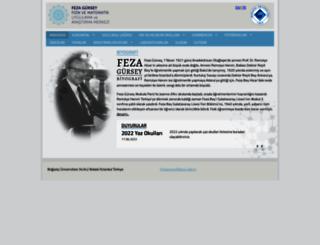 fezagurseyyazokullari.boun.edu.tr screenshot