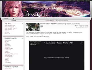 ff-xiii.net screenshot