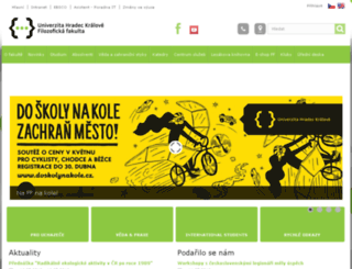 ff.uhk.cz screenshot