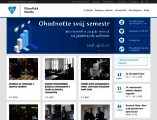 ff.upol.cz screenshot