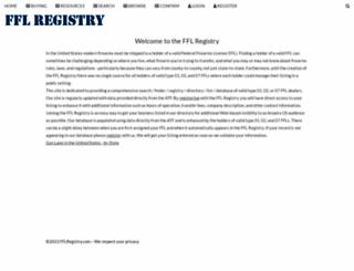 fflregistry.com screenshot
