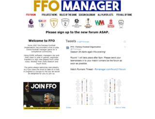 ffomanager.com screenshot