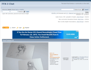 ffx3chat.createaforum.com screenshot
