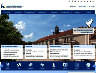 fh-nordhausen.de screenshot