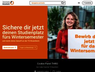 fh-rosenheim.de screenshot