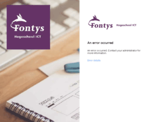 fhict.fontys.nl screenshot