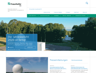 fhr.fraunhofer.de screenshot