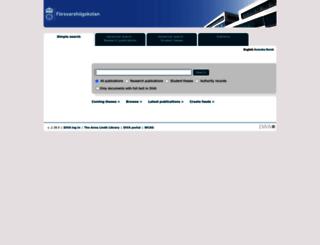fhs.diva-portal.org screenshot