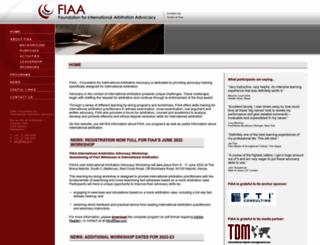 fiaa.com screenshot