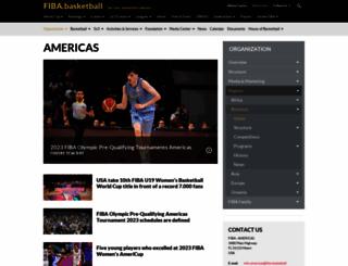 fibaamericas.com screenshot