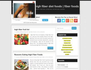 fiber-diet-foods.blogspot.com screenshot