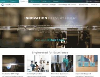 fibercore.com screenshot