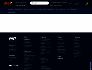 fiberinstrumentsales.com screenshot