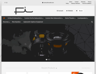ficaraudio.com screenshot