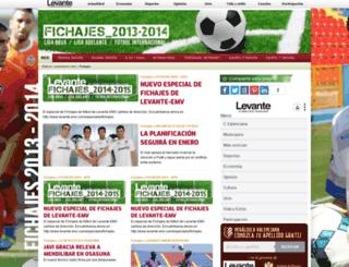fichajes.levante-emv.com screenshot