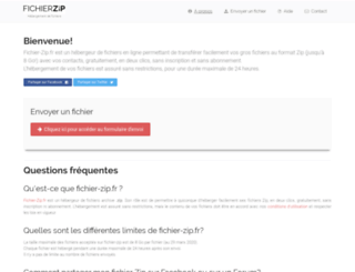 fichier-zip.com screenshot