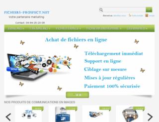 fichiers-prospect.net screenshot