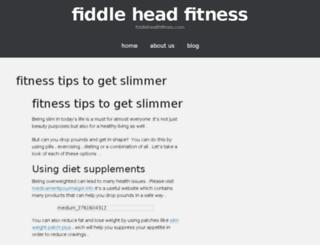 fiddleheadfitness.com screenshot