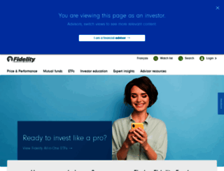 fidelity.ca screenshot