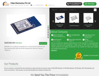 fideselectronics.in screenshot
