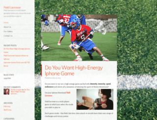 fieldlacrosse.wordpress.com screenshot