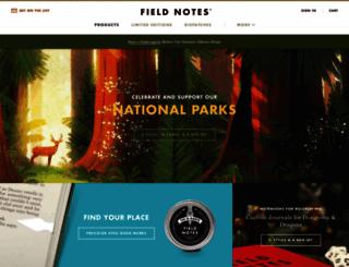 fieldnotesbrand.com screenshot