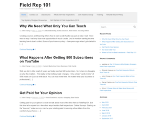 fieldrep101.com screenshot