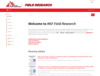 fieldresearch.msf.org screenshot