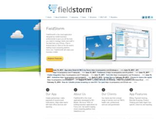 fieldstormapp.com screenshot