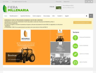 fieramillenaria.it screenshot