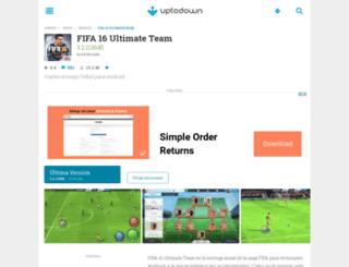 fifa-16-ultimate-team.uptodown.com screenshot