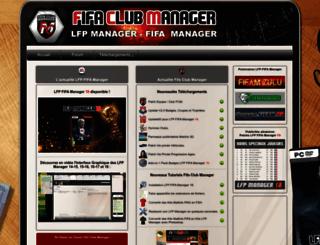 fifaclubmanager.fr screenshot