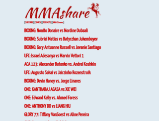 fight.mmasharevideo.com screenshot
