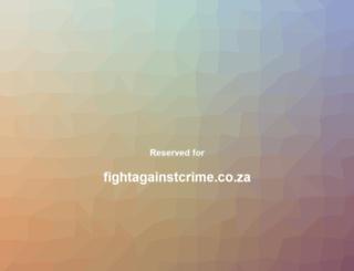 fightagainstcrime.co.za screenshot