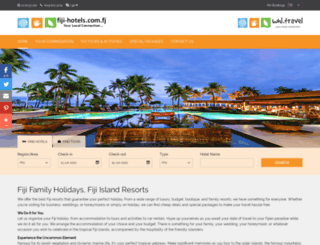 fiji-hotels.com.fj screenshot
