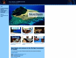 fijihighcommission.org.uk screenshot