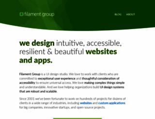 filamentgroup.com screenshot