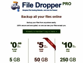 filedropperpro.com screenshot