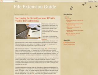fileextensionguide.blogspot.com screenshot
