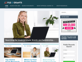 fileforgrants.com screenshot