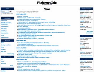 fileformat.info screenshot