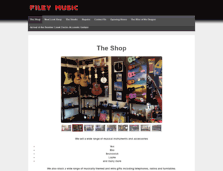 filey-music.co.uk screenshot