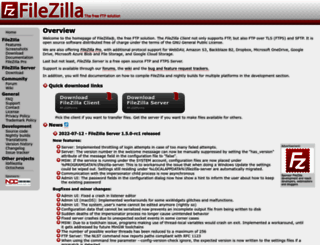 filezilla-project.org screenshot
