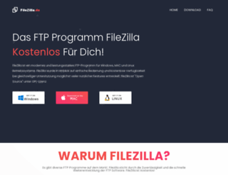 filezilla.de screenshot