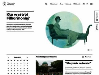 filharmonia.pl screenshot