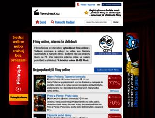 filmecheck.cz screenshot