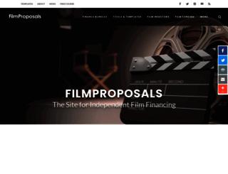 filmproposals.com screenshot