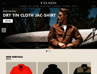 filson.com screenshot